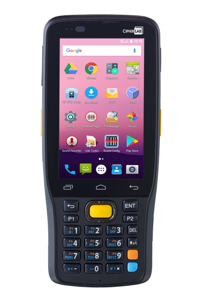 "Терминал сбора данных RK25-2D-CL, Android 7.0, BT/WIFI, 2D Imager, 4"", 25Key, Adapter, Snap on USB"